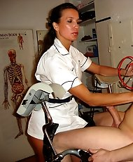 Nurse StrapOn Jane gives her slave a serious medical