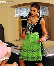 Milk Maid is Punished When The Mistress of the House Finds her Dildo