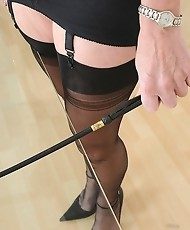 Femdom nylons granny