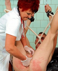 Unsuspecting Guy Gets Tied up, Tortured and Fisted by Sadistic Nurse