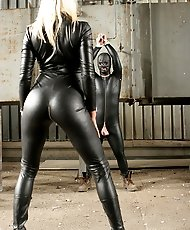 Male sub tormented by Lady Natalie in disused factory